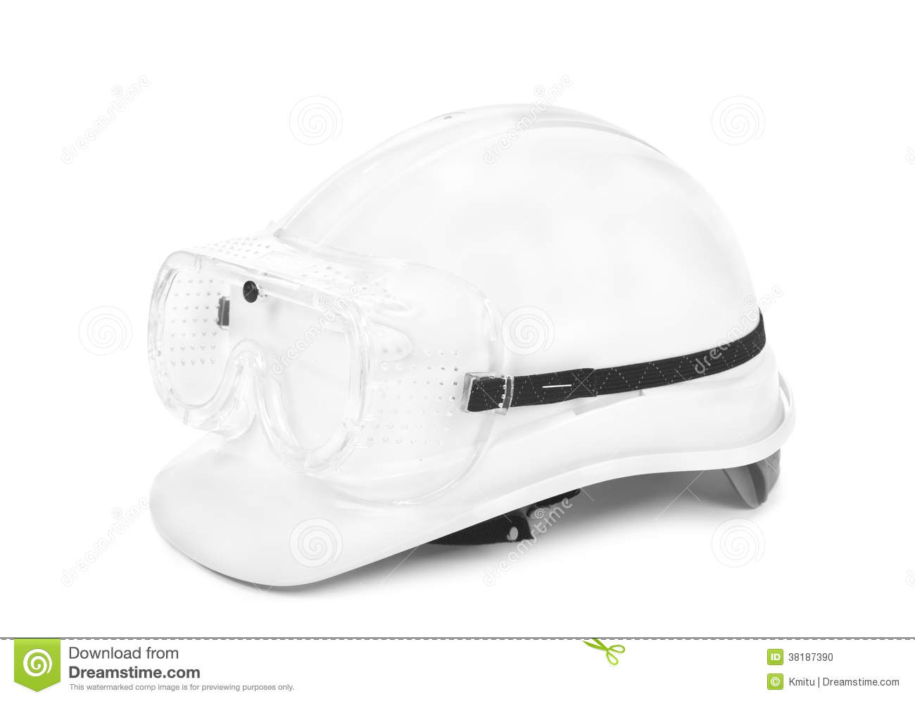 White Hard Hat And S Stock Photo