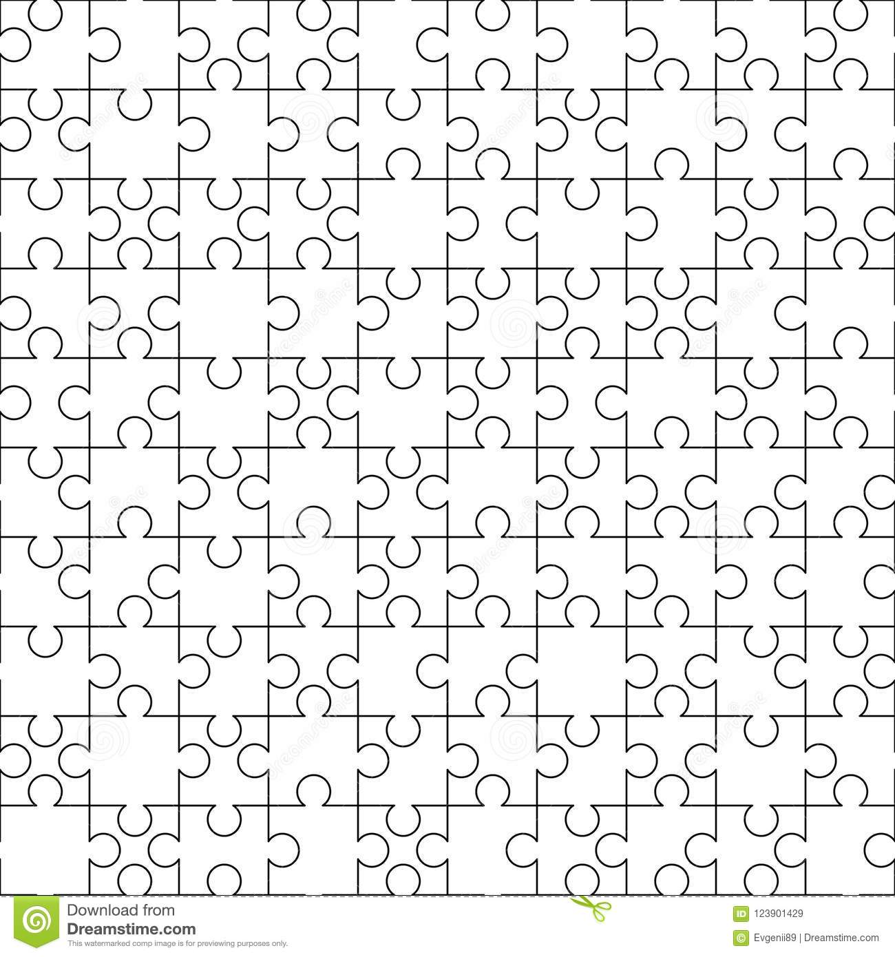 White Puzzles Pieces Seamless Pattern Jigsaw Puzzle