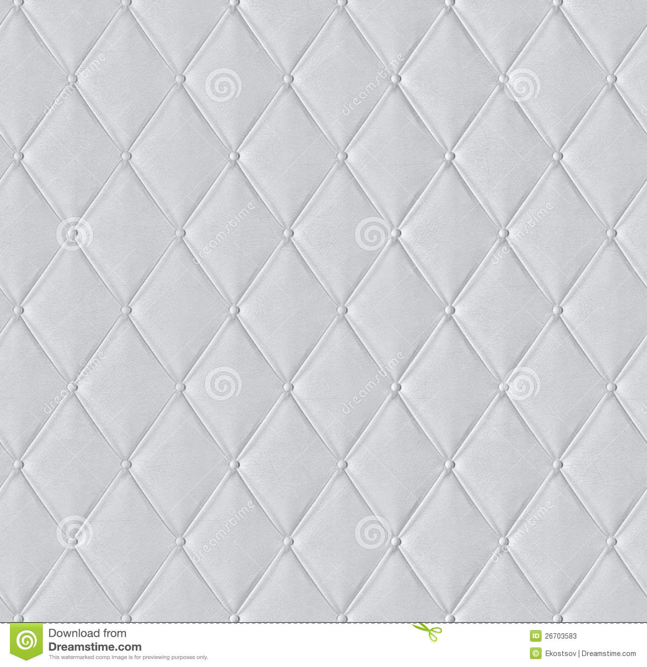 White Quilted Leather Tiled Texture Stock Image