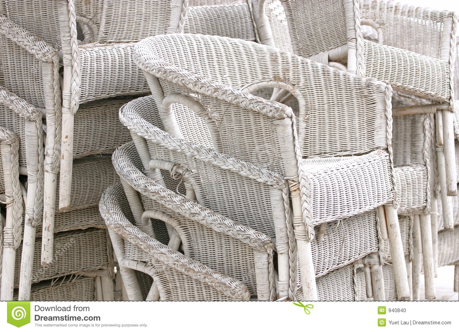 White Rattan Chairs Stock Photo Image 940840