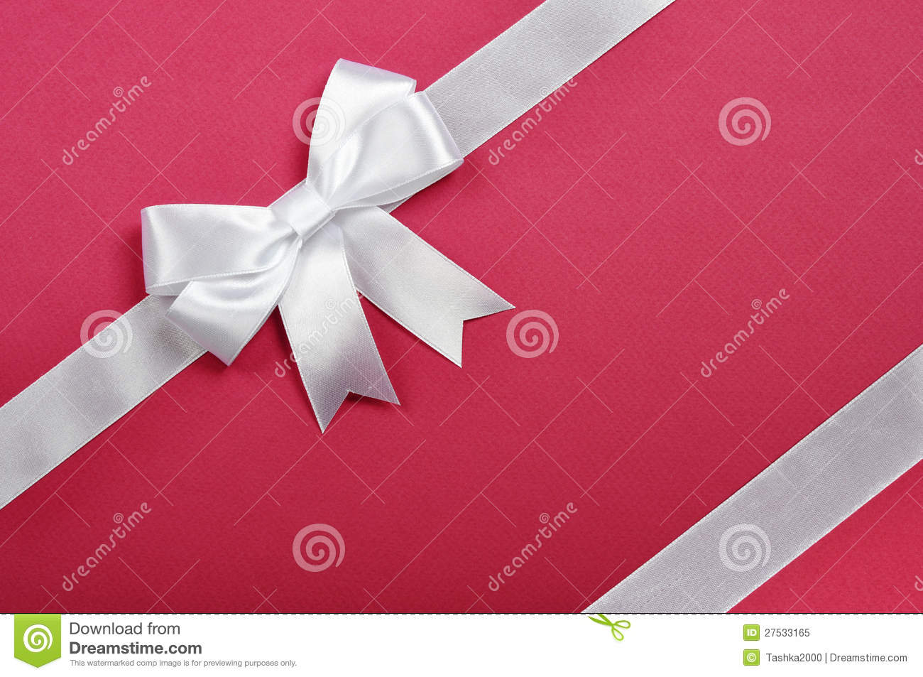 White Ribbon Whith Bow Royalty Free Stock Photo Image 27533165