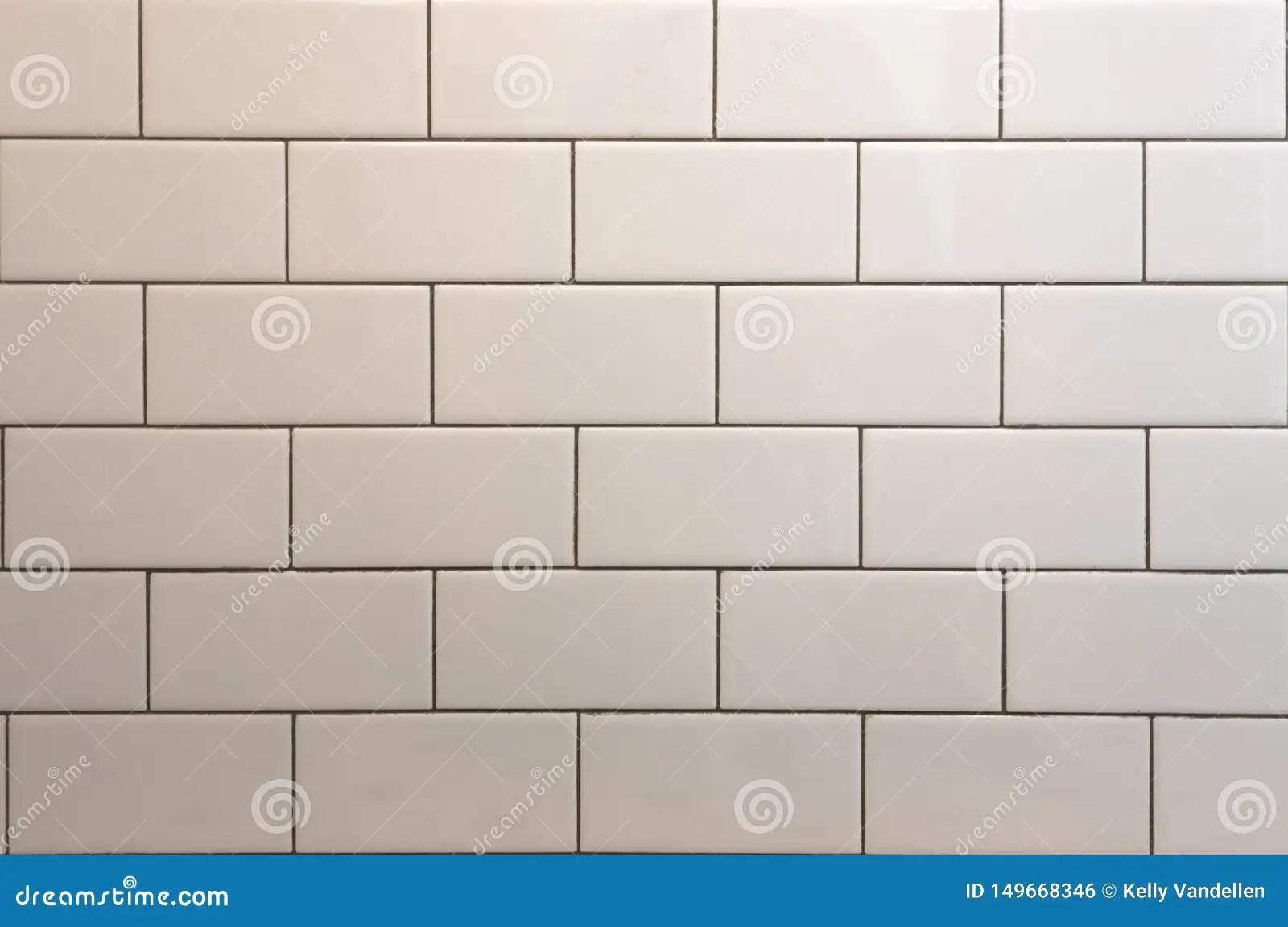 https www dreamstime com white subway tile black grout background image image149668346