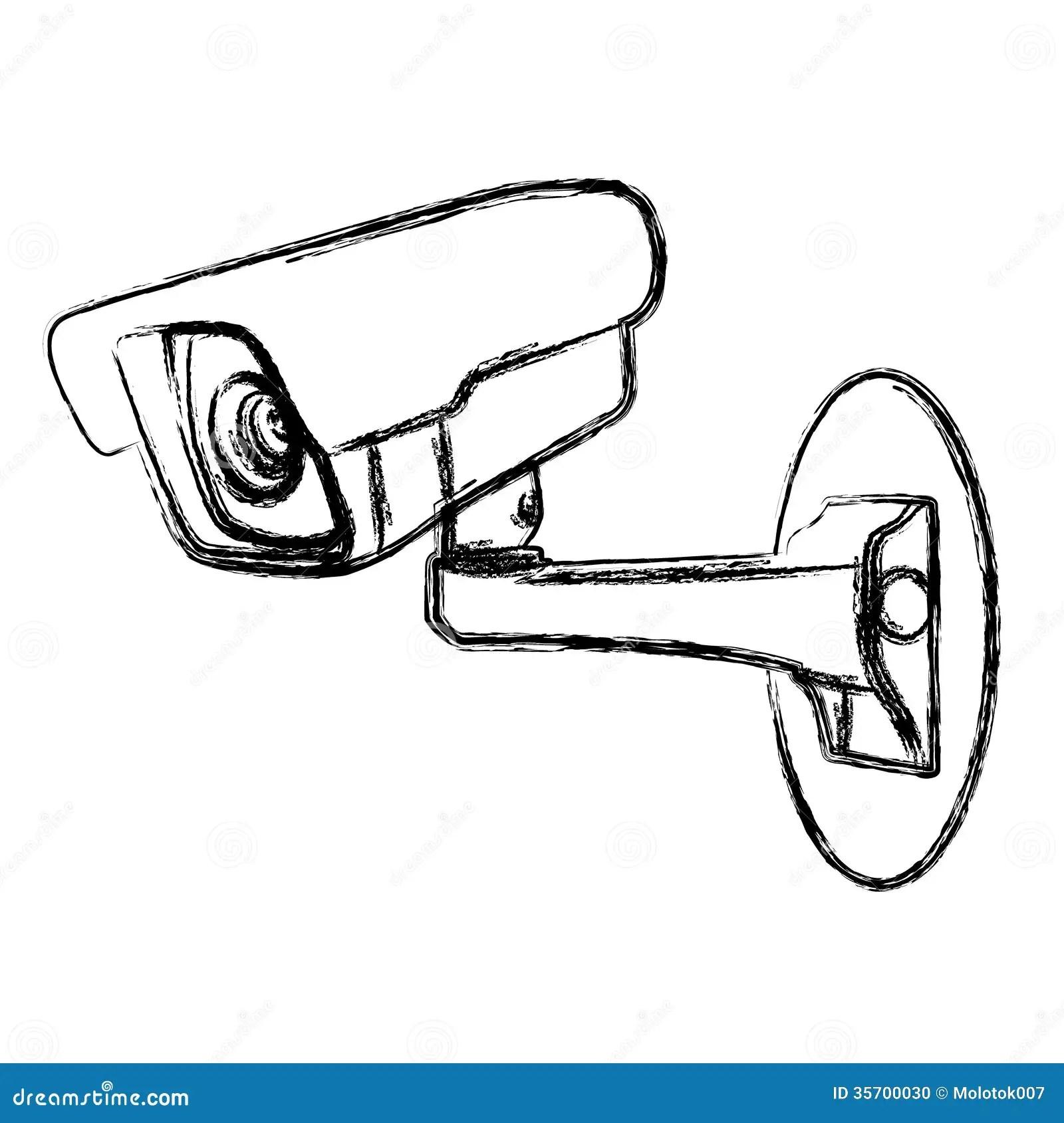 White Surveillance Camera Cctv Stock Vector