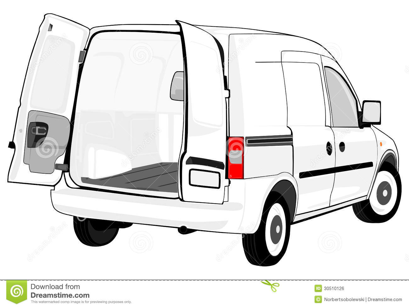 White Van Stock Illustration Illustration Of Employee