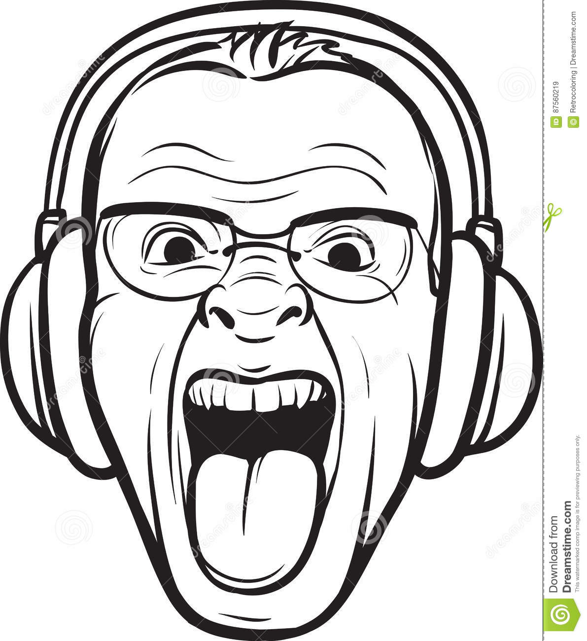 Headphones Drawing Sketch Coloring Page