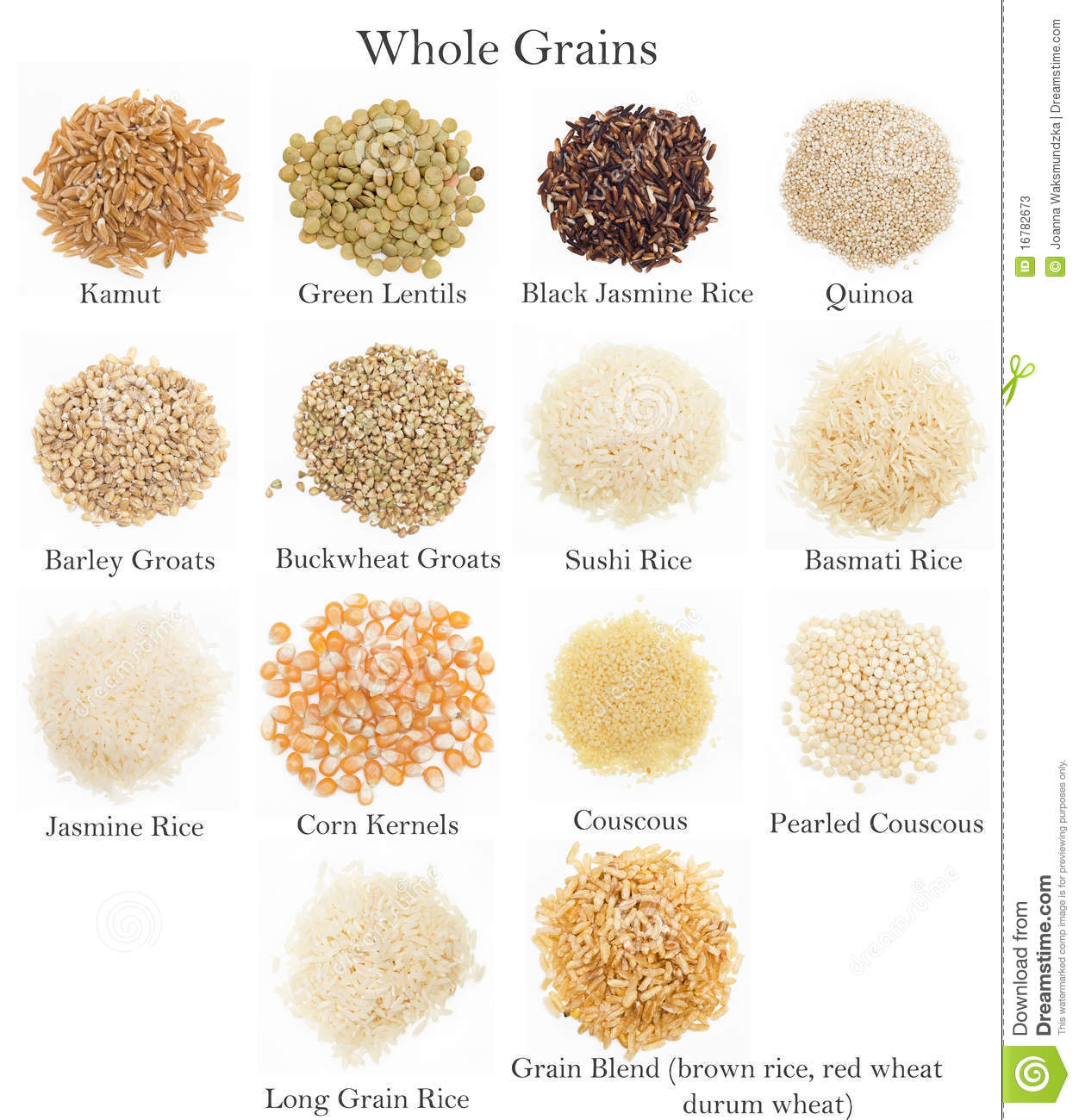 Whole Grains Collection Stock Image Image Of Edible
