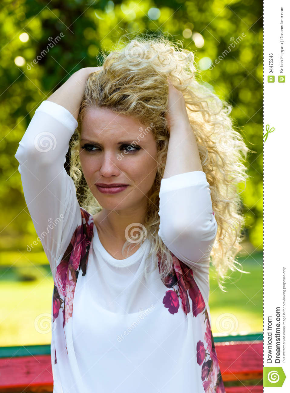 Why Stock Photo Image Of Adult Cute Hair Despair