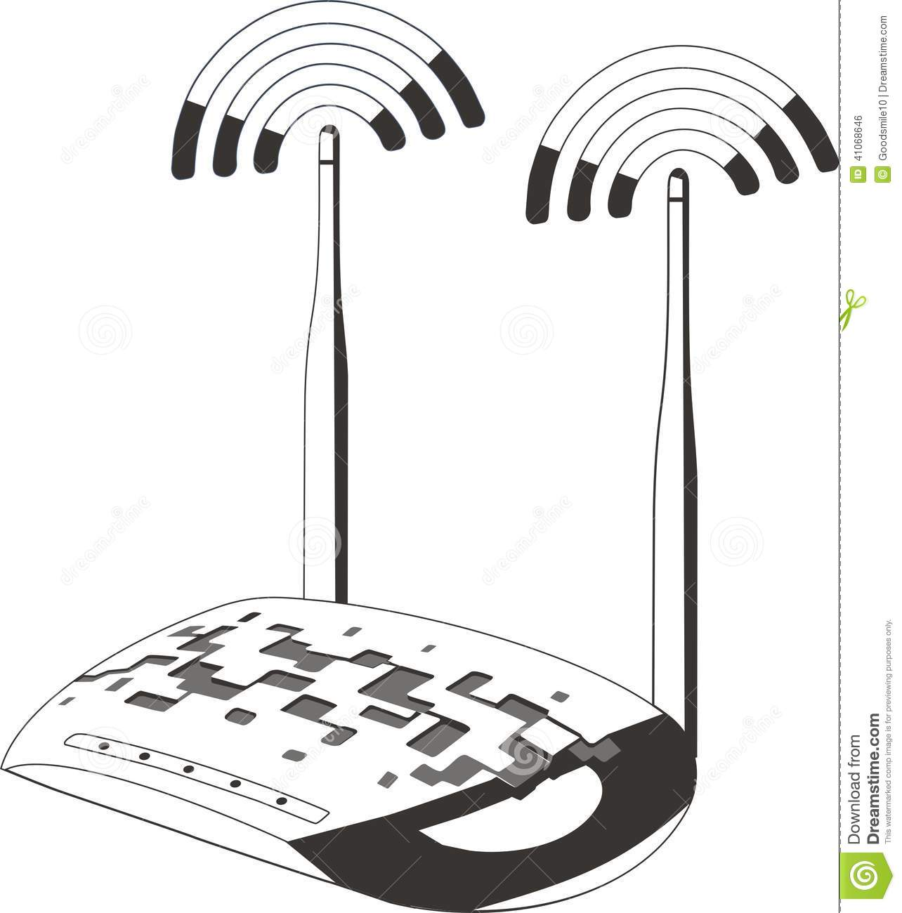 Wifi Modem Router Stock Vector