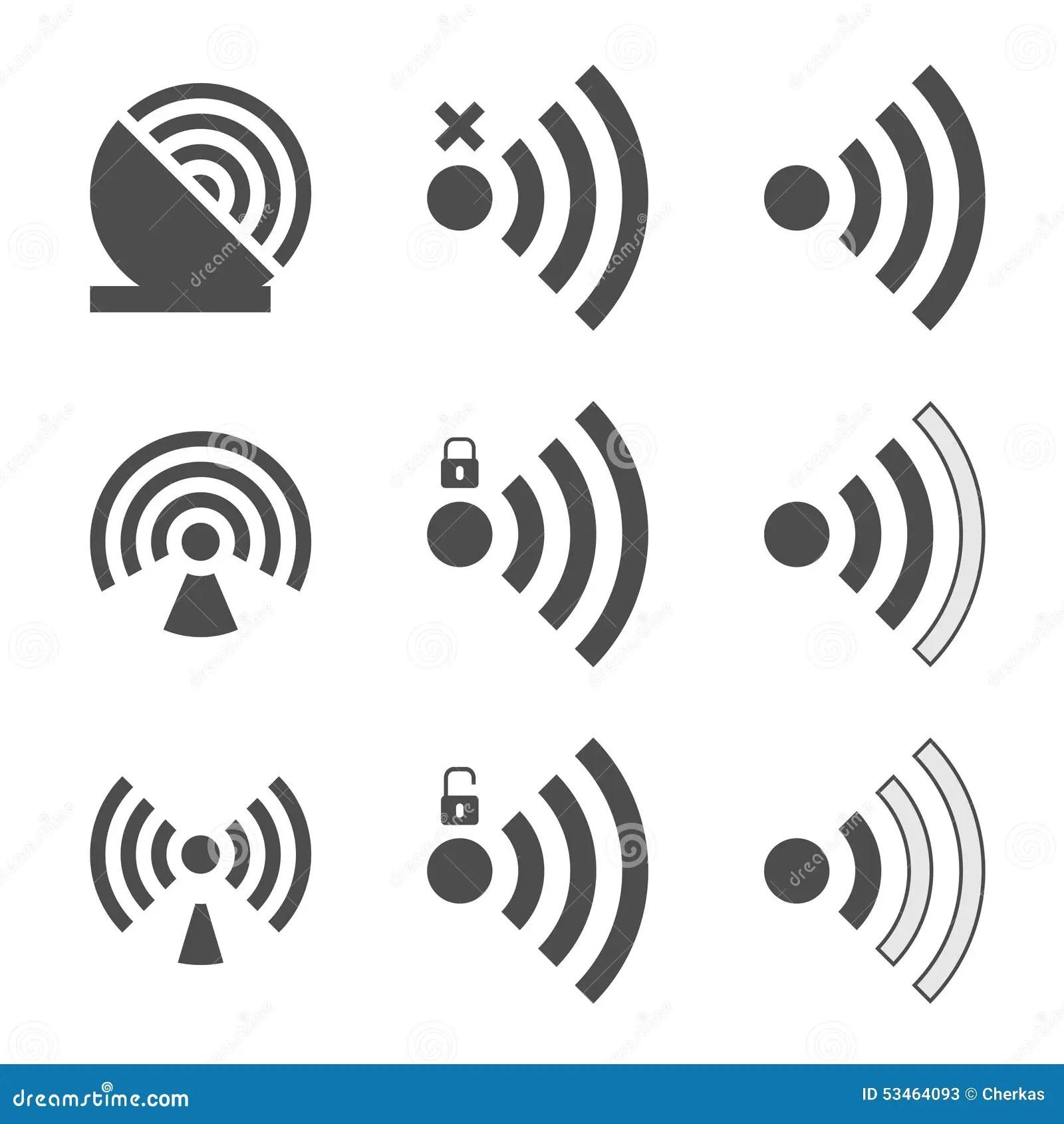 Wifi Icon In A Flat Design In Black Color Vector