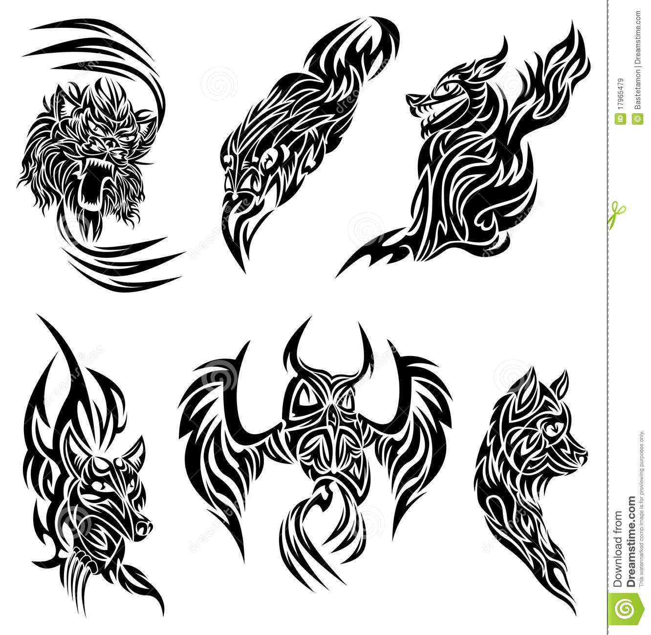 Wild Animals Tattoo Stock Vector Illustration Of Predator