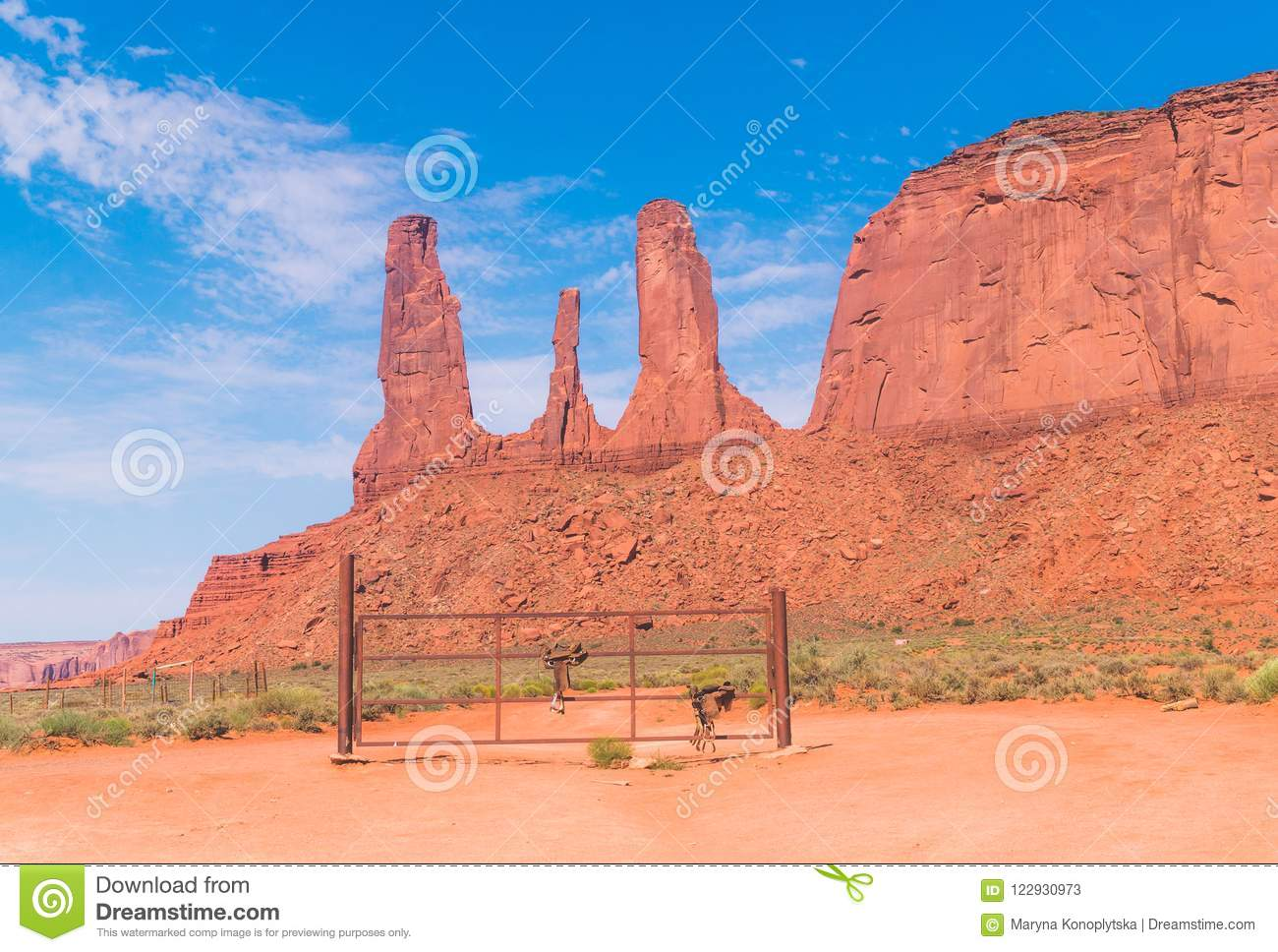 Wild West Usa Monument Valley Arizona Three Sisters