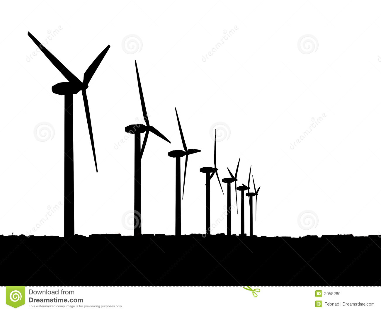 Wind Generators Stock Photo