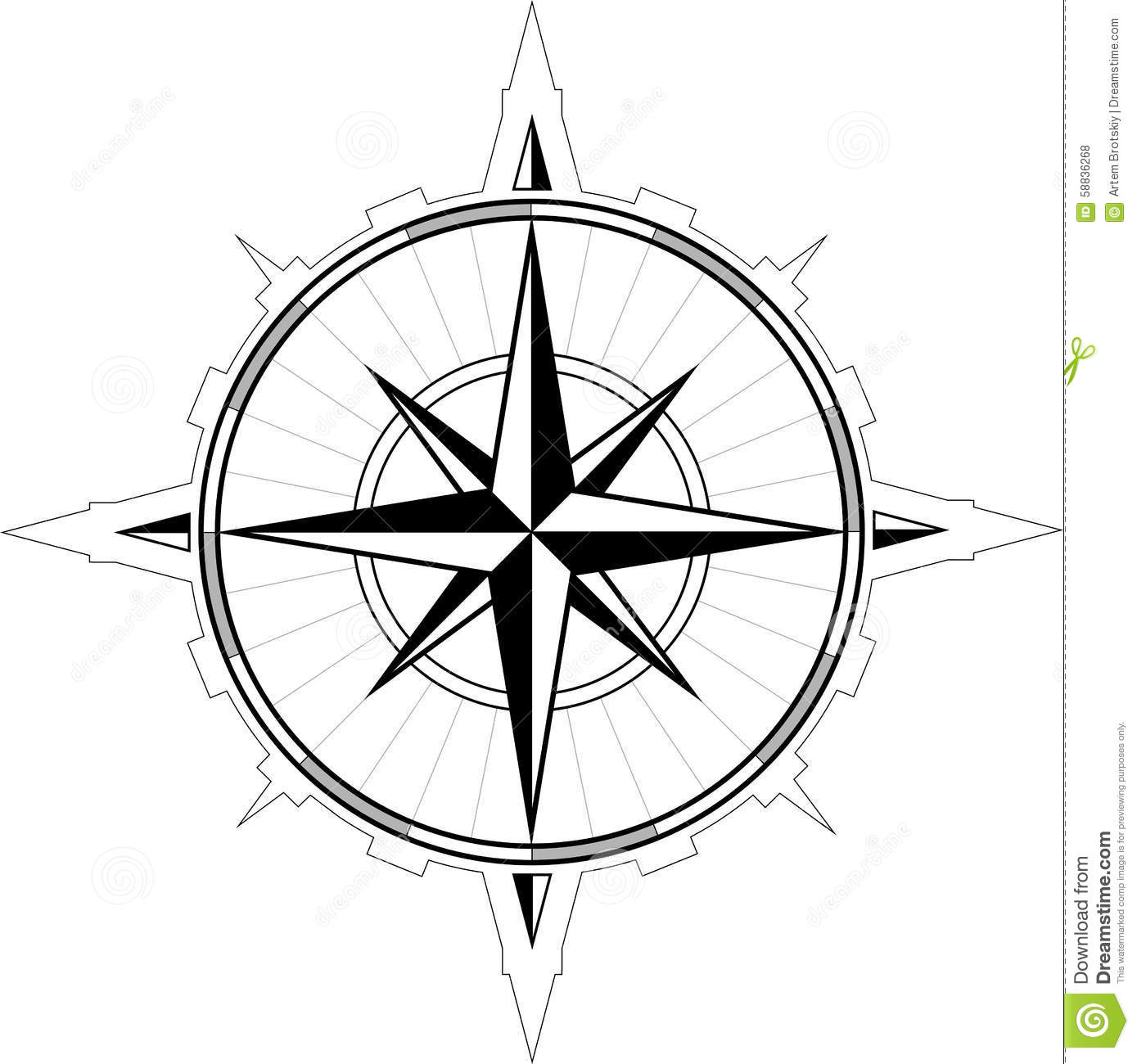 Wind Rose Compass Stock Vector