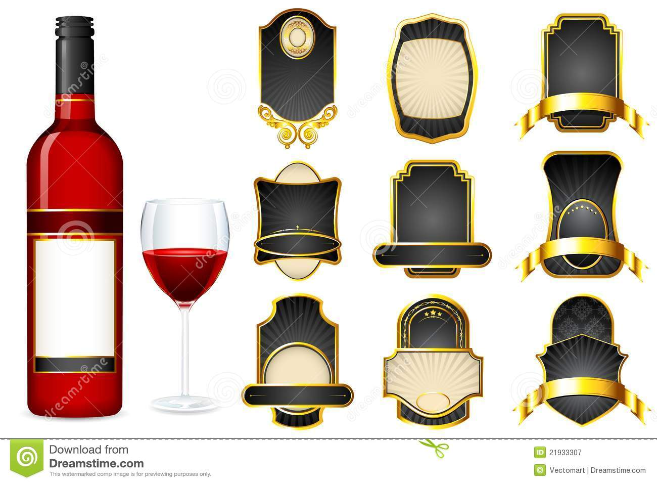 Wine Bottle Labels Template traditional wedding free printable – Wine Bottle Labels Template Free