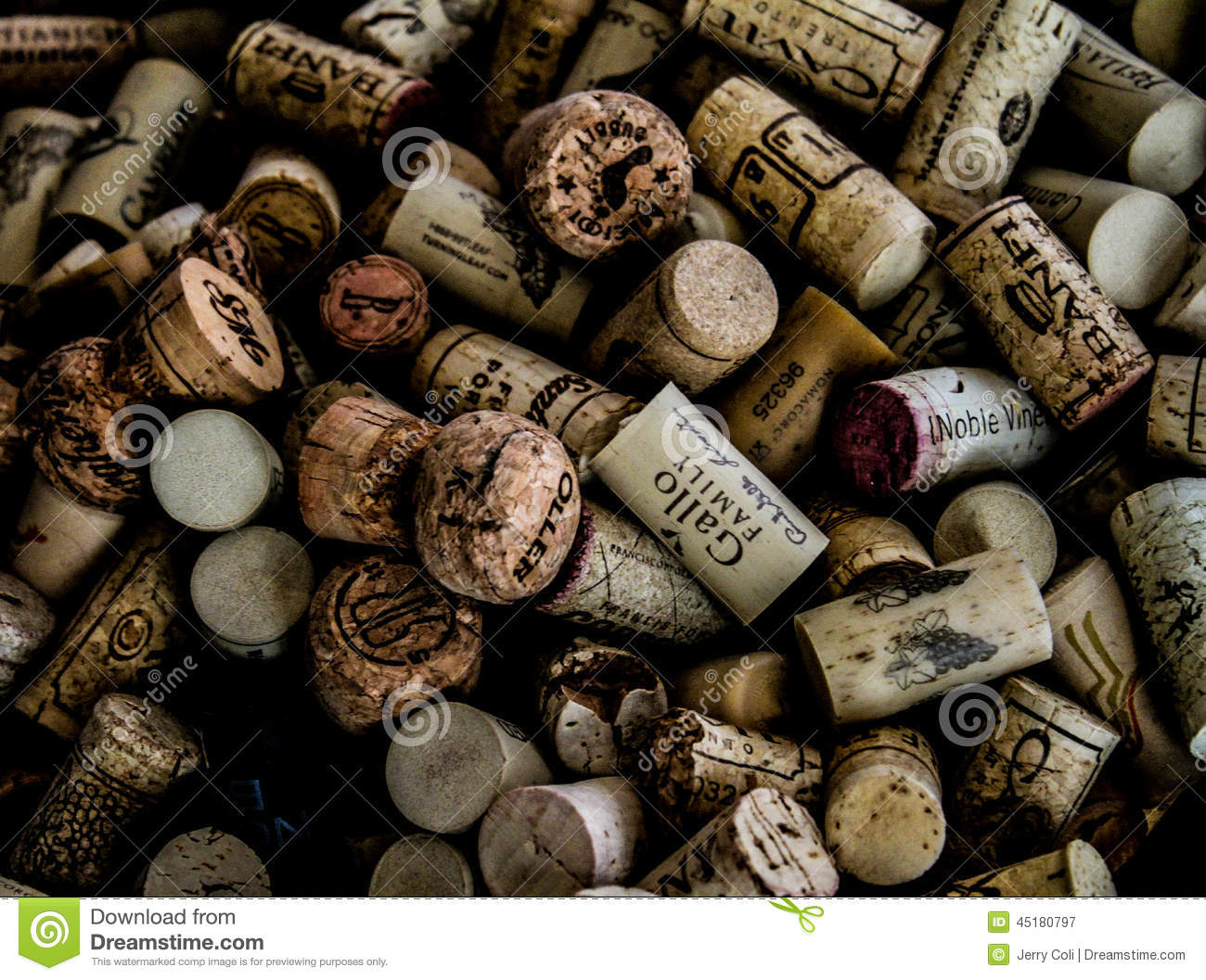 Wine Cork Collection Editorial Photography Image 45180797