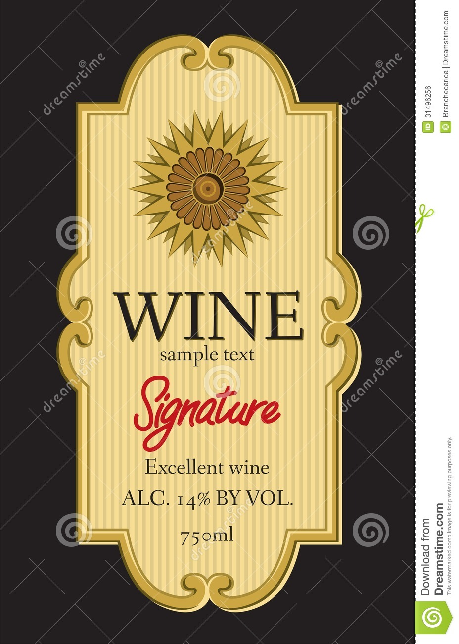 Wine Label Template Free free printable wine labels free wine – Free Wine Label Design