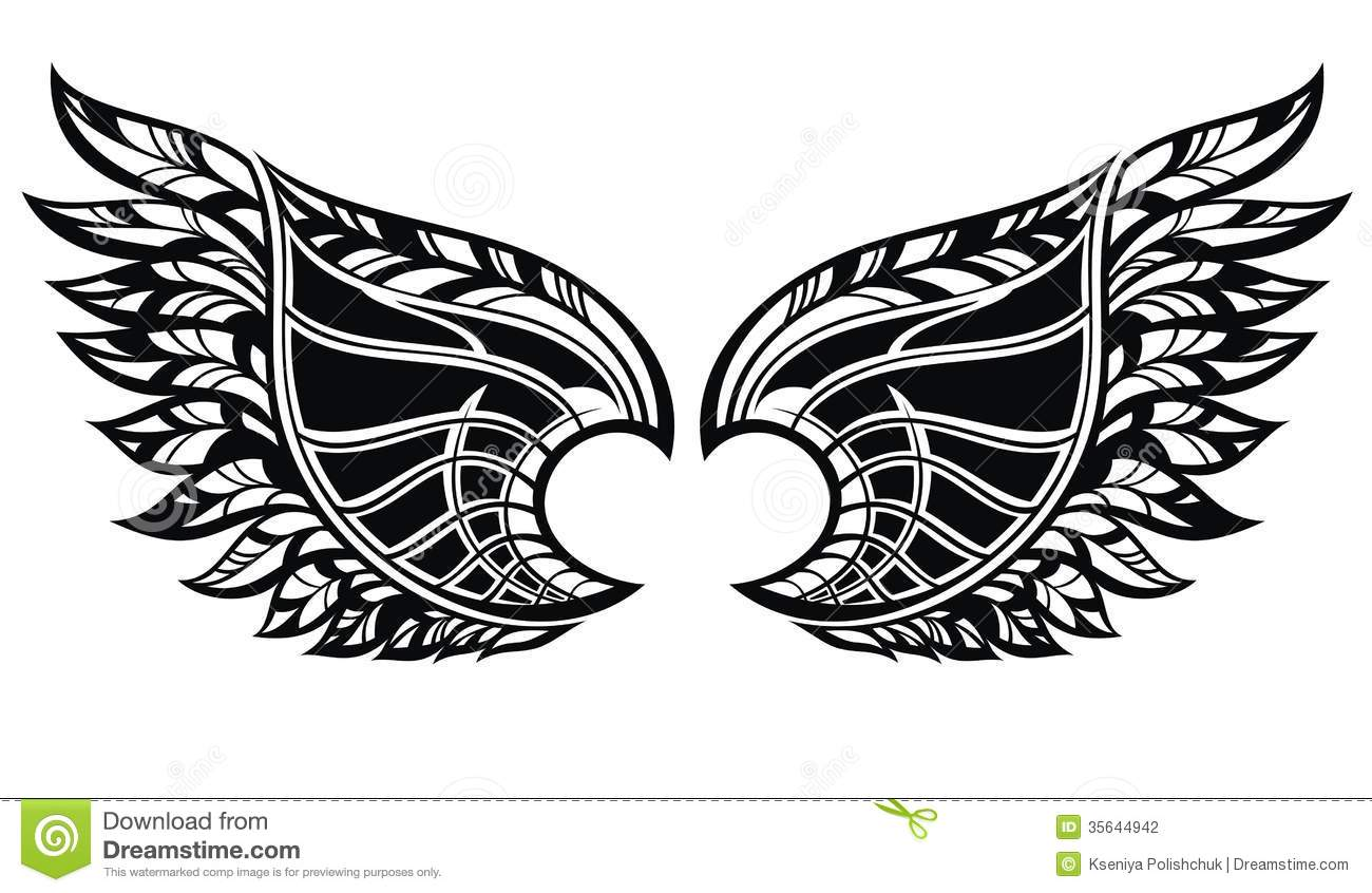 Wings Tattoo Stock Photo
