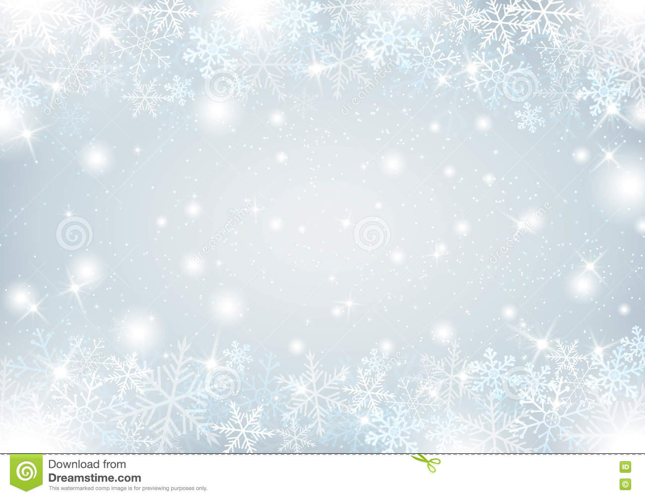 Winter Background With Snow And Snowflakes Stock Vector
