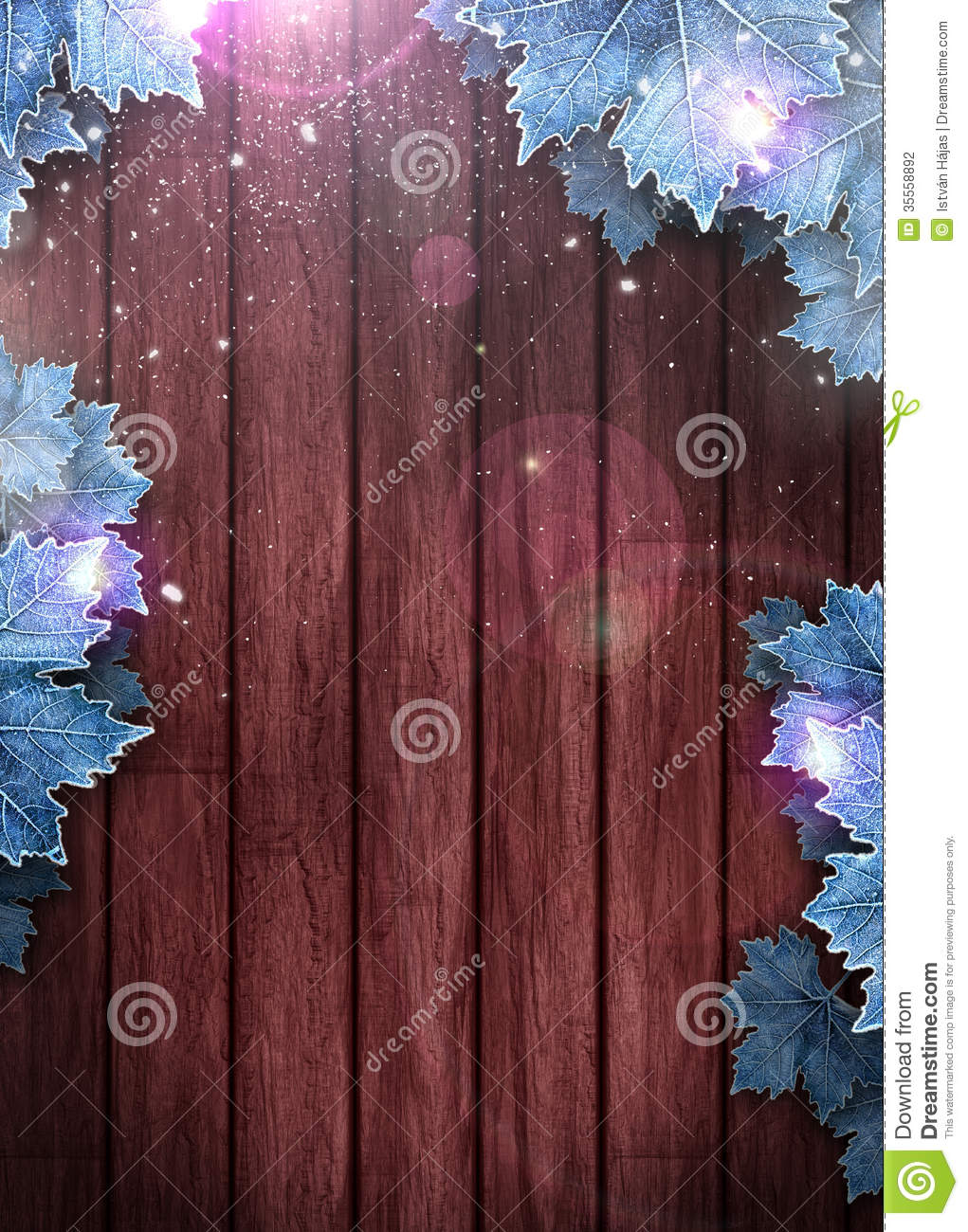 Winter Business Or Invitation Background Stock Photo