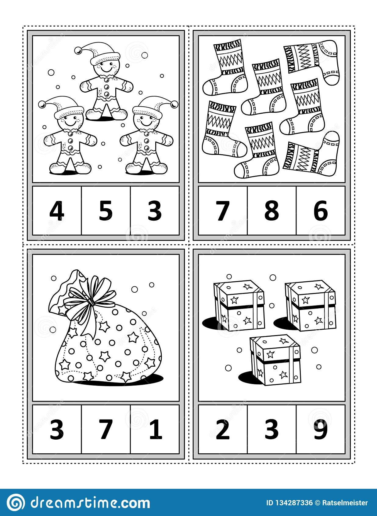 Math Activity Page For Kids
