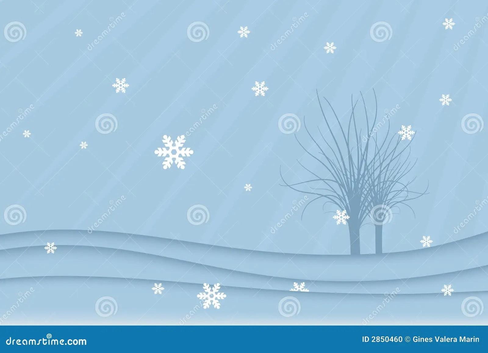 Winter Landscape Vector Stock Vector Illustration Of