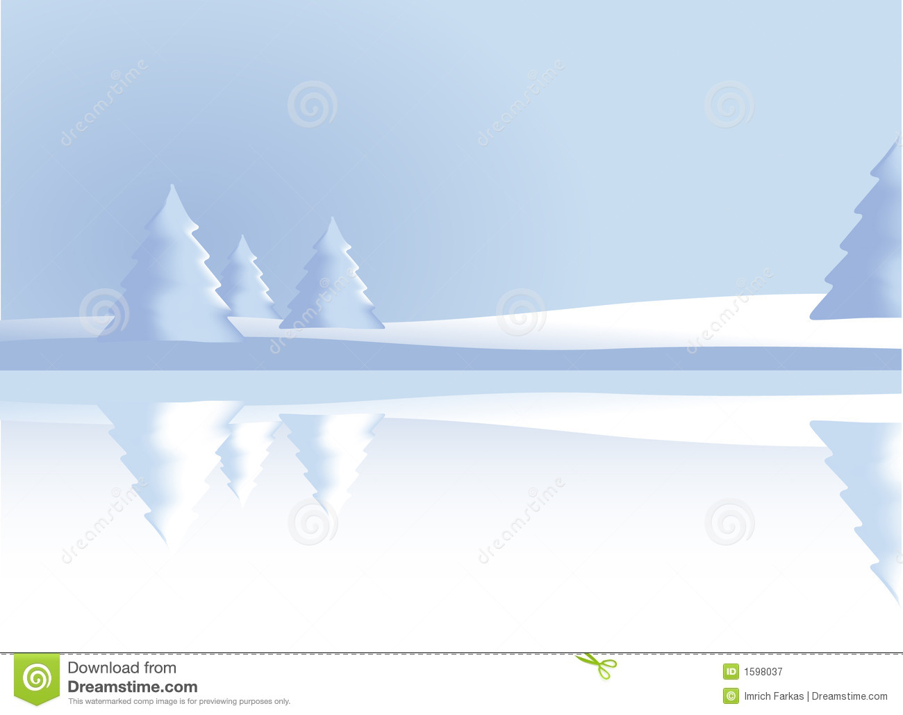 Winter Scenery Vector Royalty Free Stock Photography