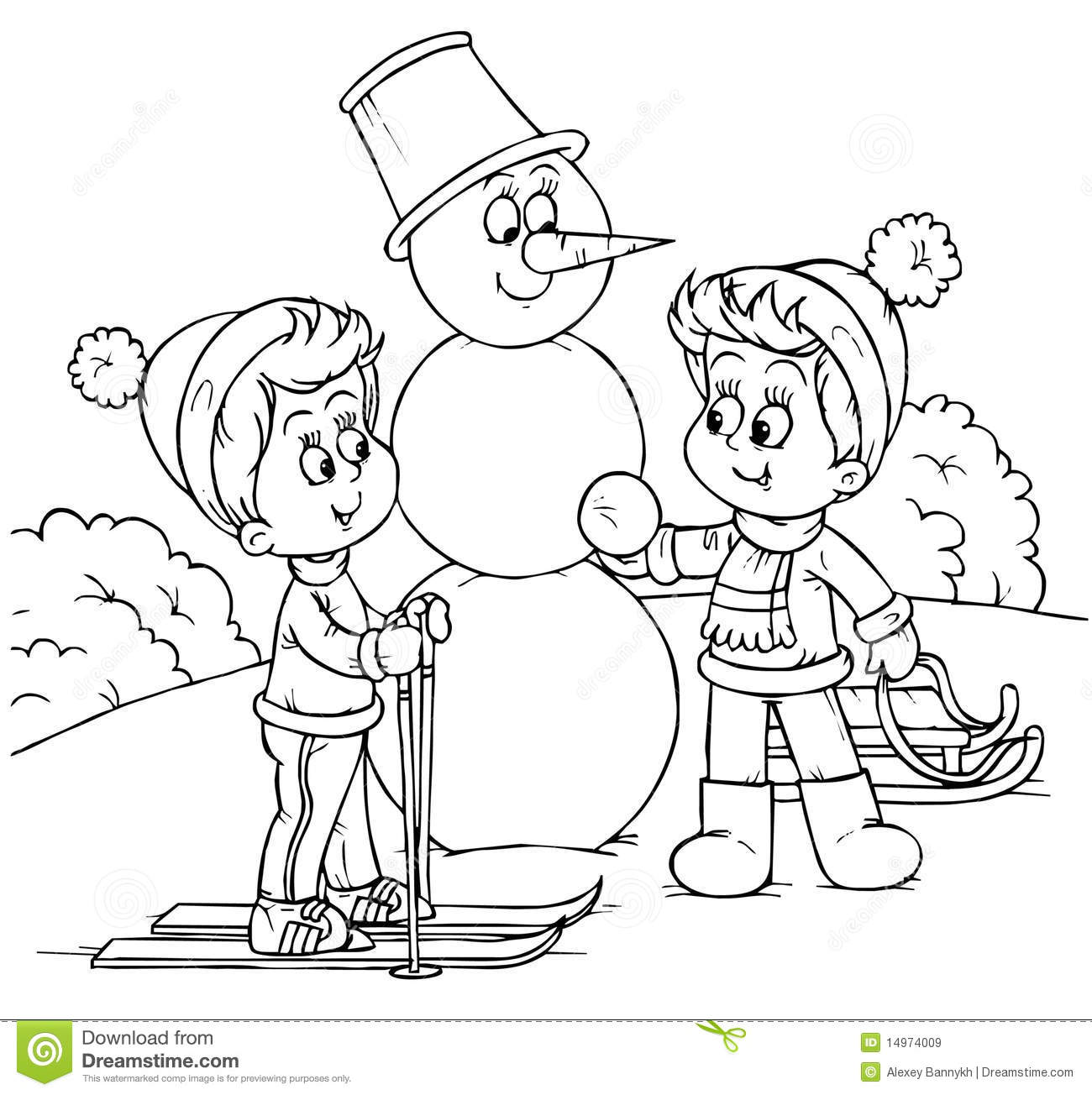 Winter Vacation Stock Illustration Illustration Of