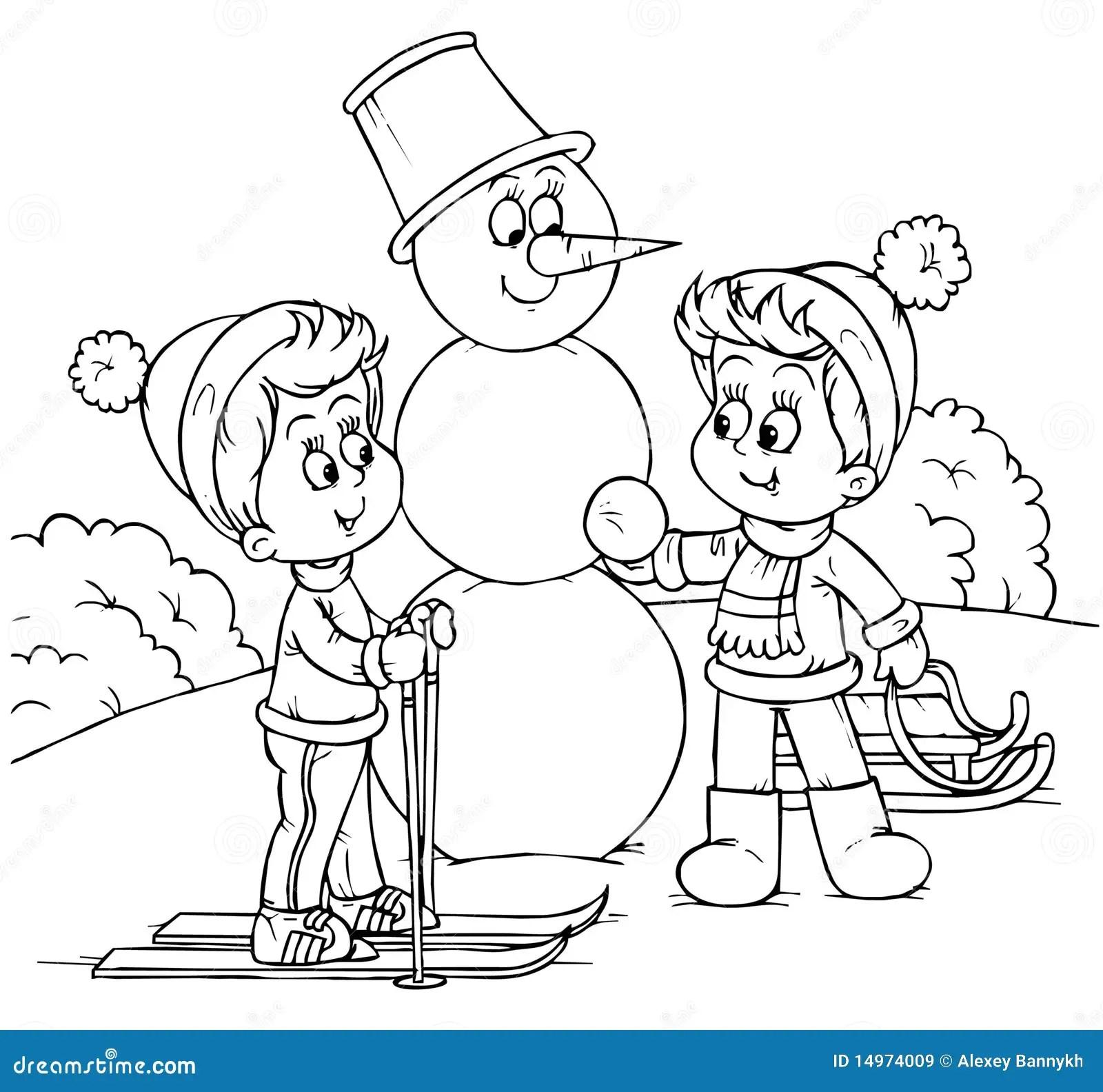 Winterferien Stock Abbildung Illustration Von Kinder