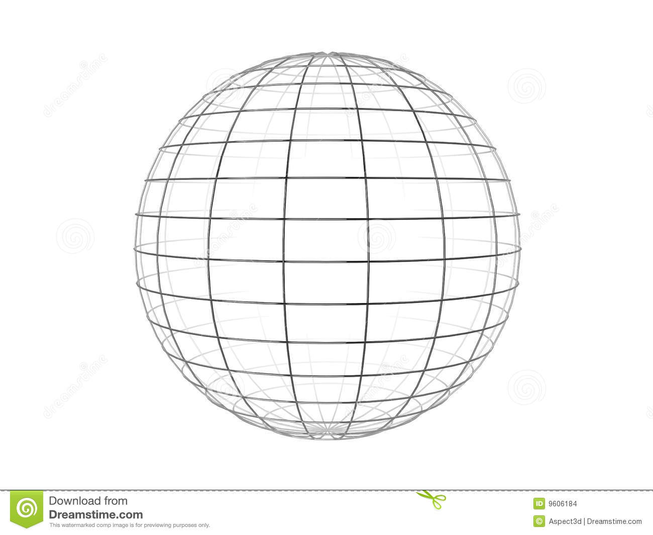 Wire Frame Sphere Stock Images