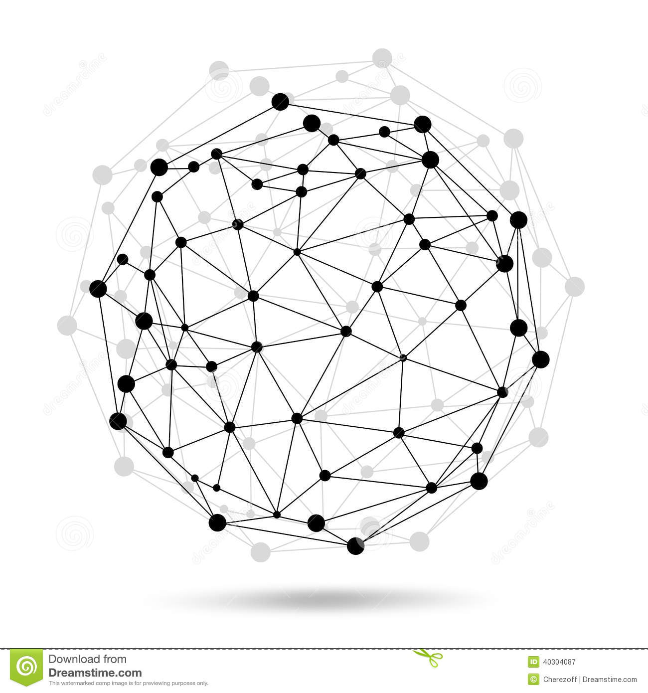 Wire Frame Sphere Network Concept Stock Illustration