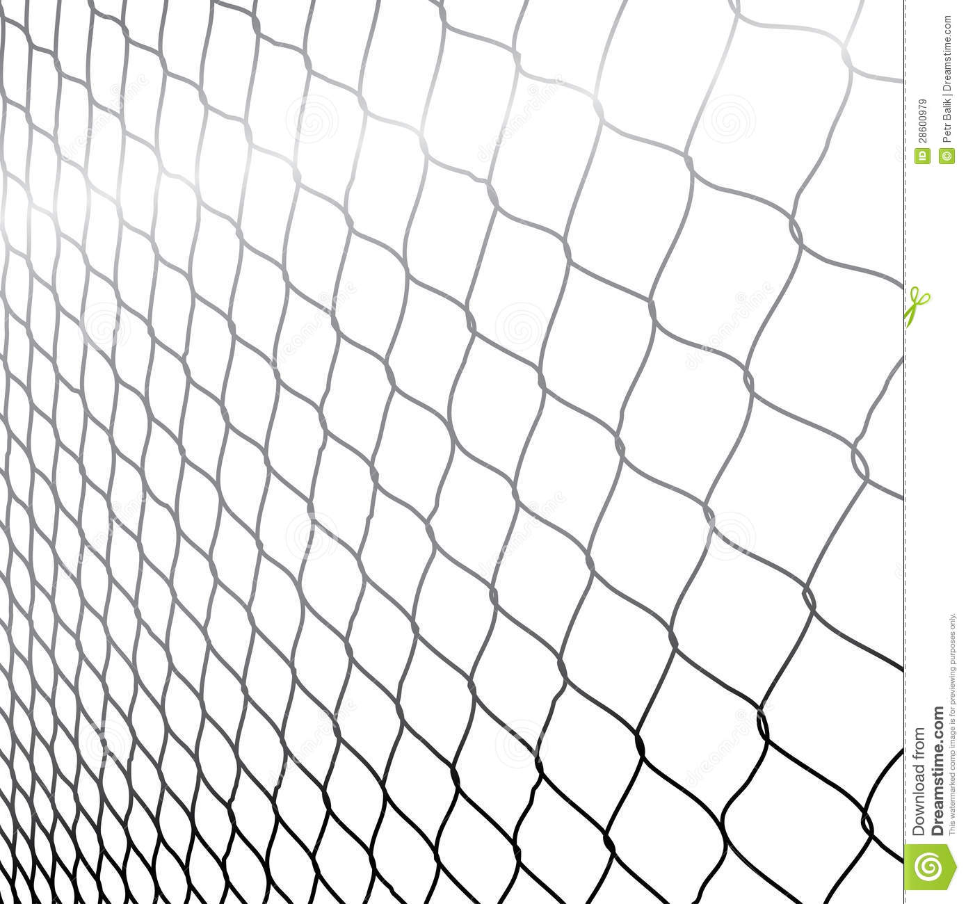 Wired Fence In Perspective Royalty Free Stock Images