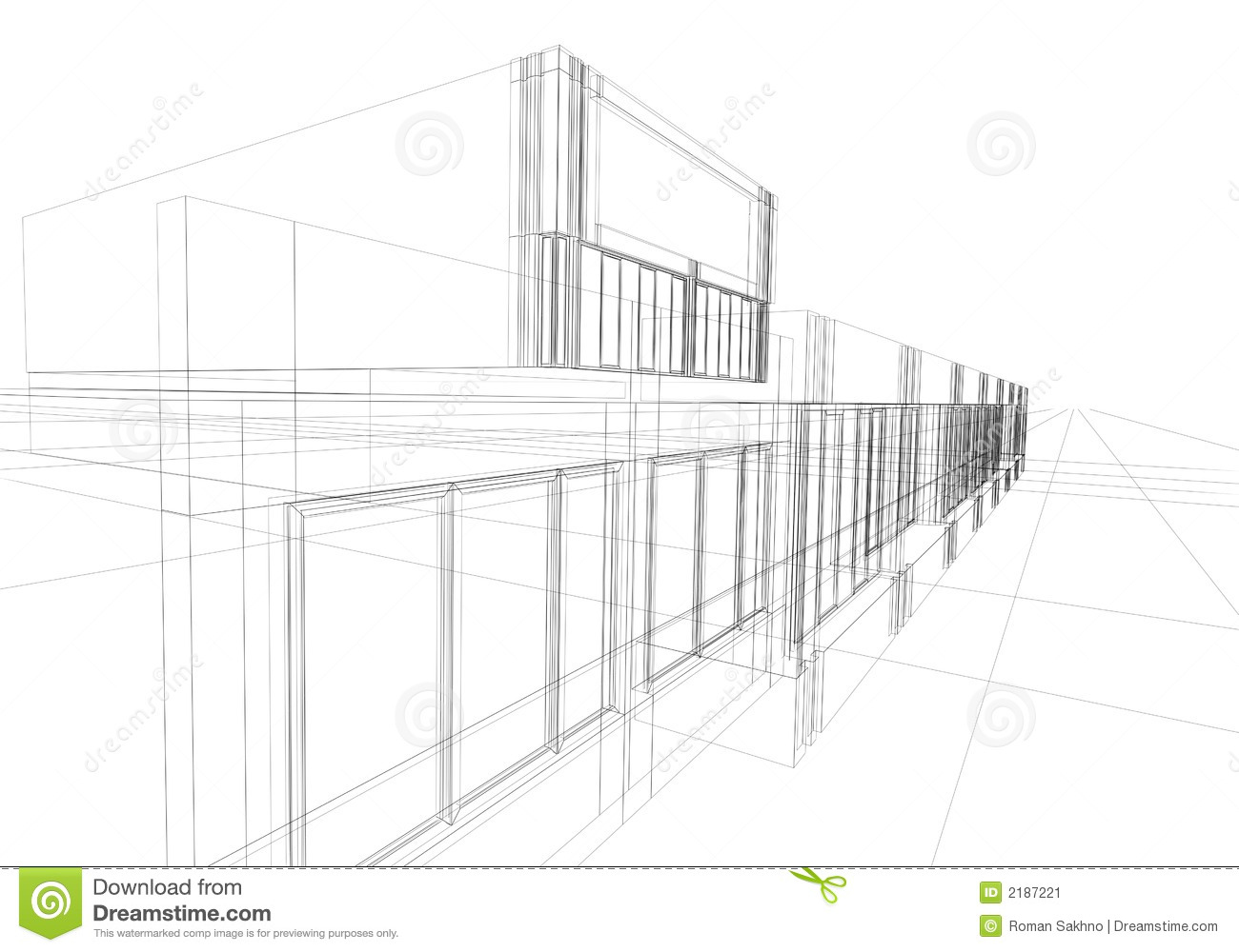Wireframe Abstract Stock Image