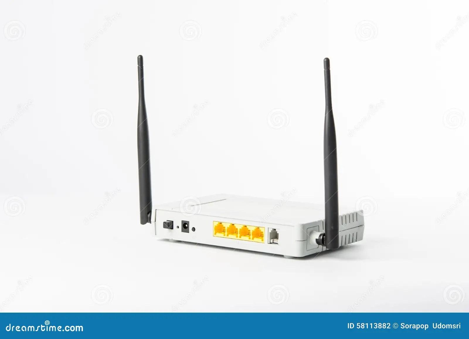 Wireless Modem Router Network Hub Stock Photo