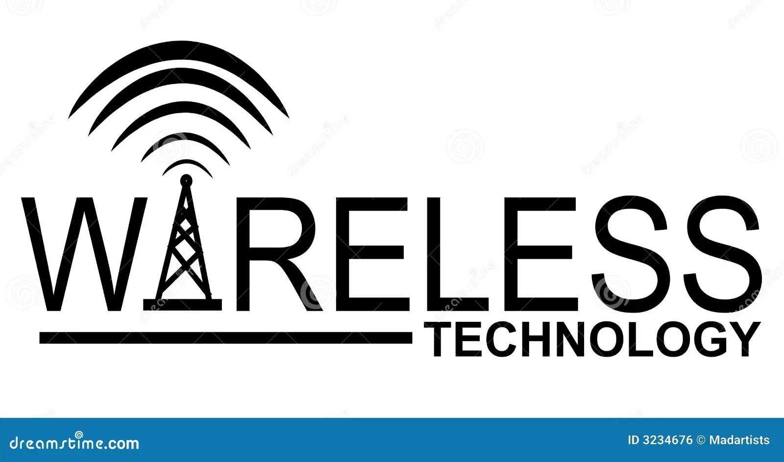Wireless Technology Logo Royalty Free Stock Image