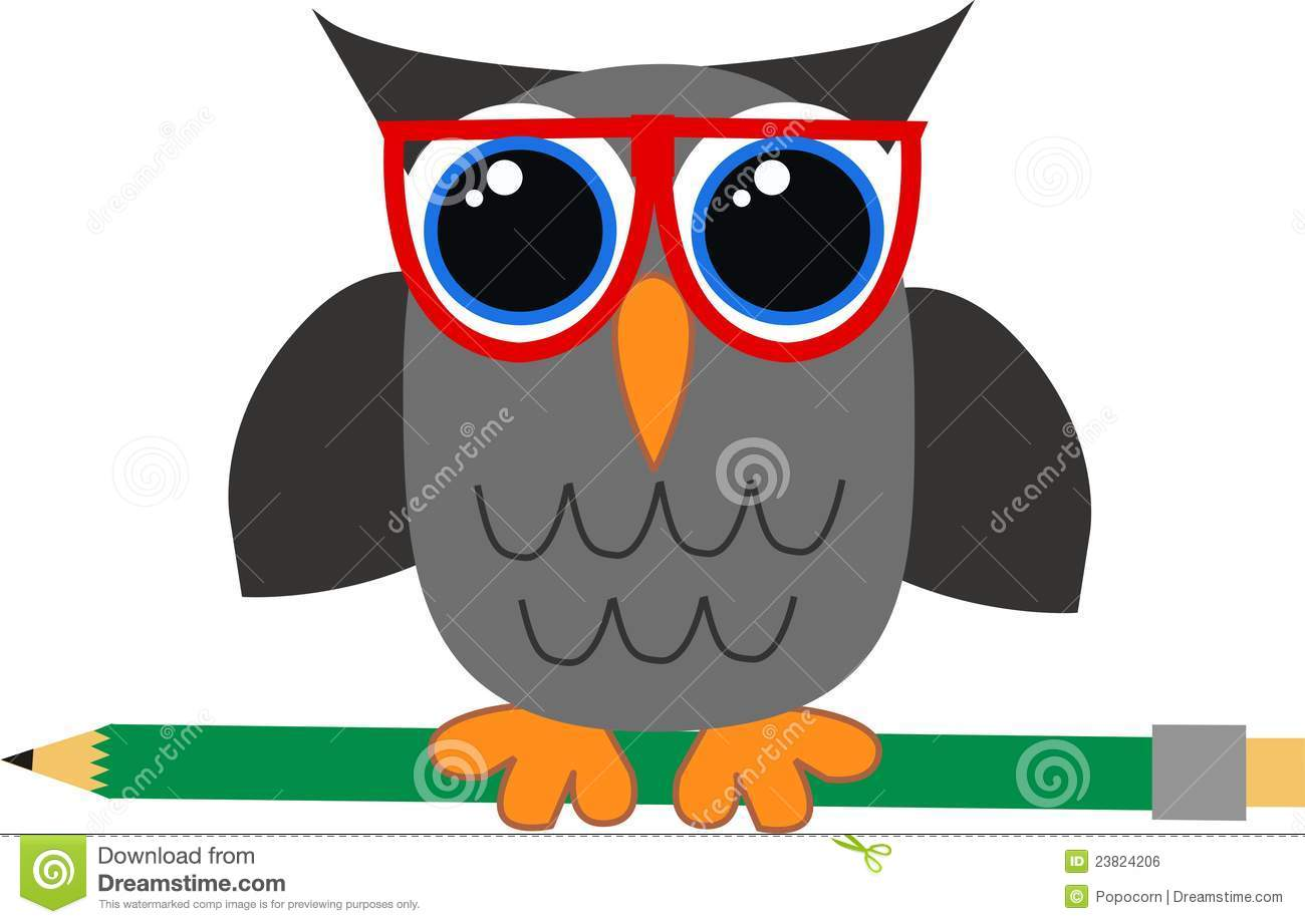 A Wise Owl Stock Vector Illustration Of Elements Education