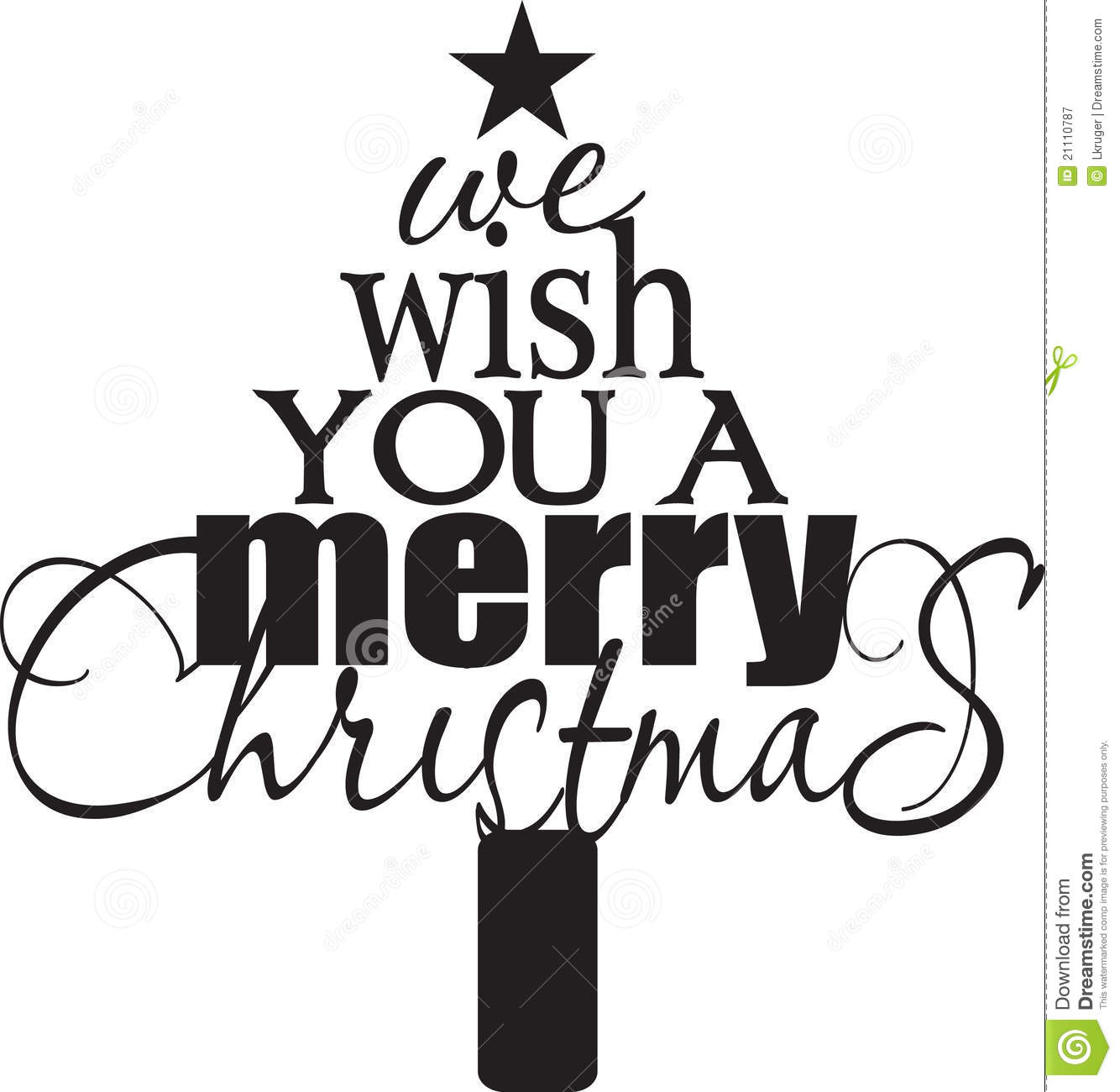 We Wish You A Merry Christmas Stock Vector