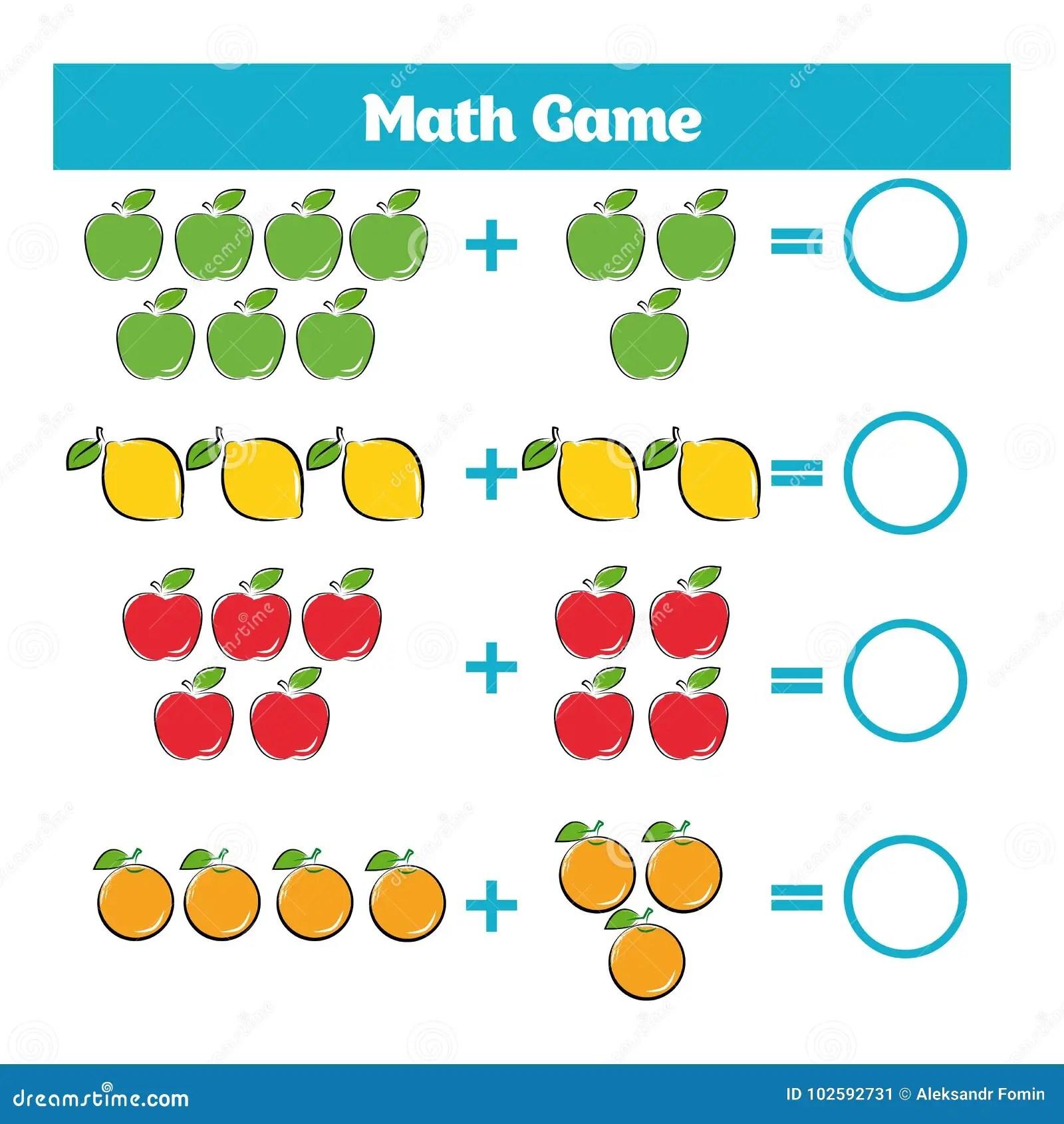 Wiskunde Onderwijsspel Voor Kinderen Het Leren