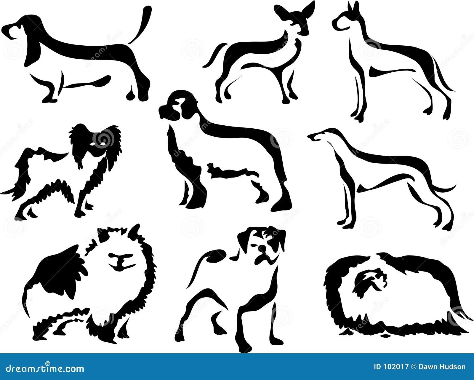 Wobbly Brush Dogs Stock Illustration Image Of Pedigree