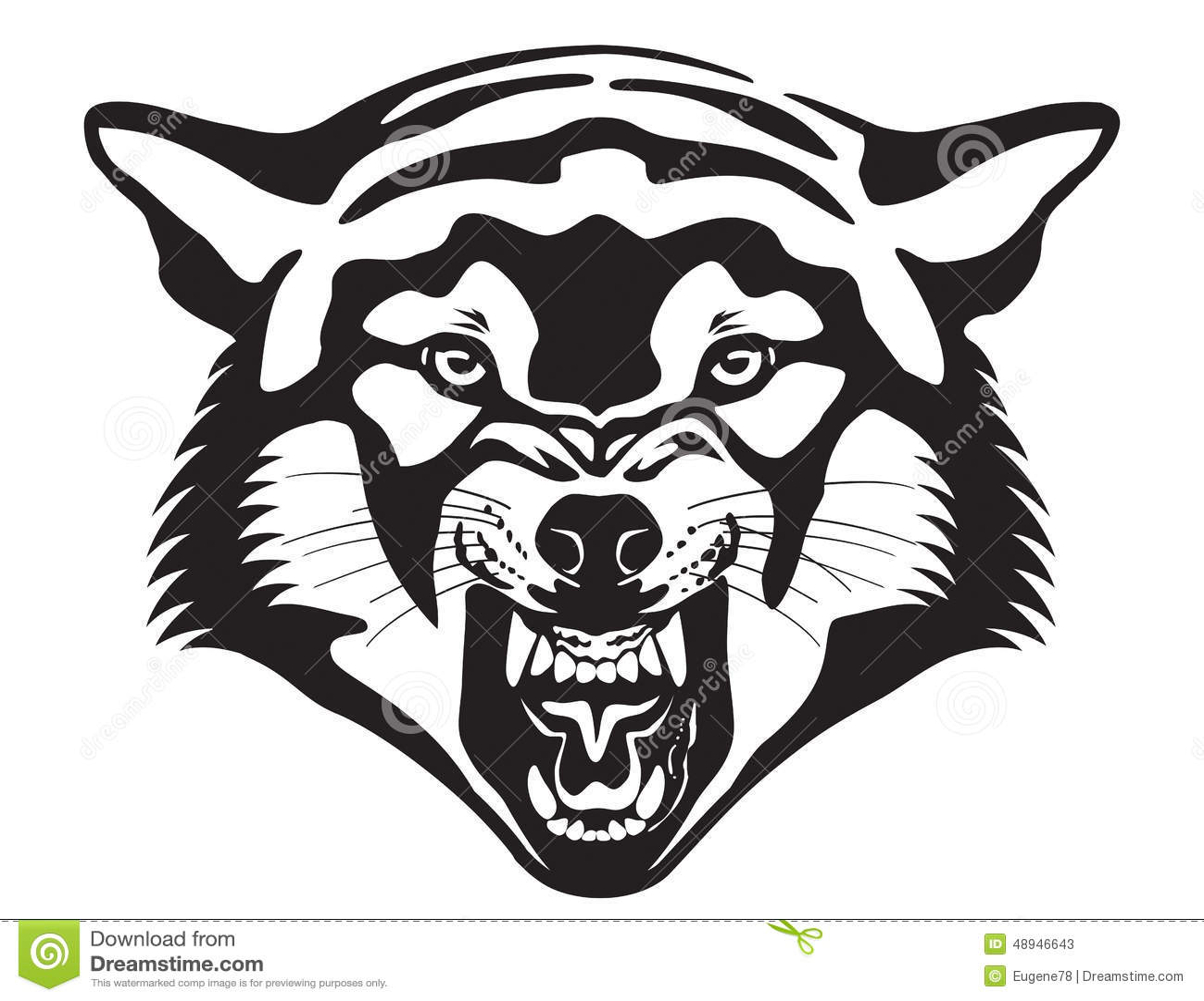 Wolf Head Illustration Stock Vector Illustration Of