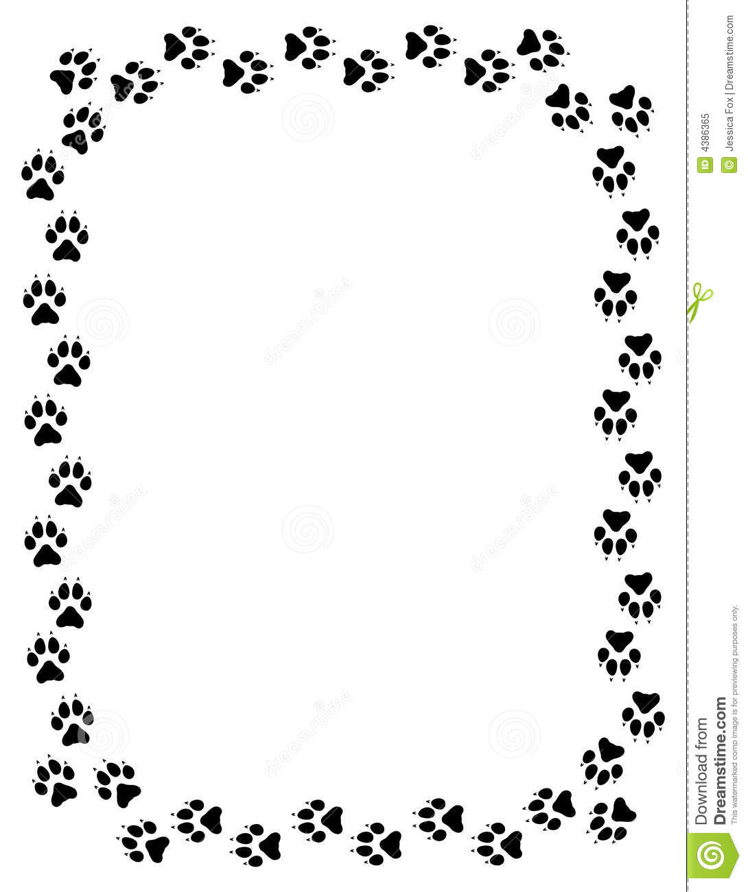 Wolf Paw Print Border Stock Illustration Illustration Of