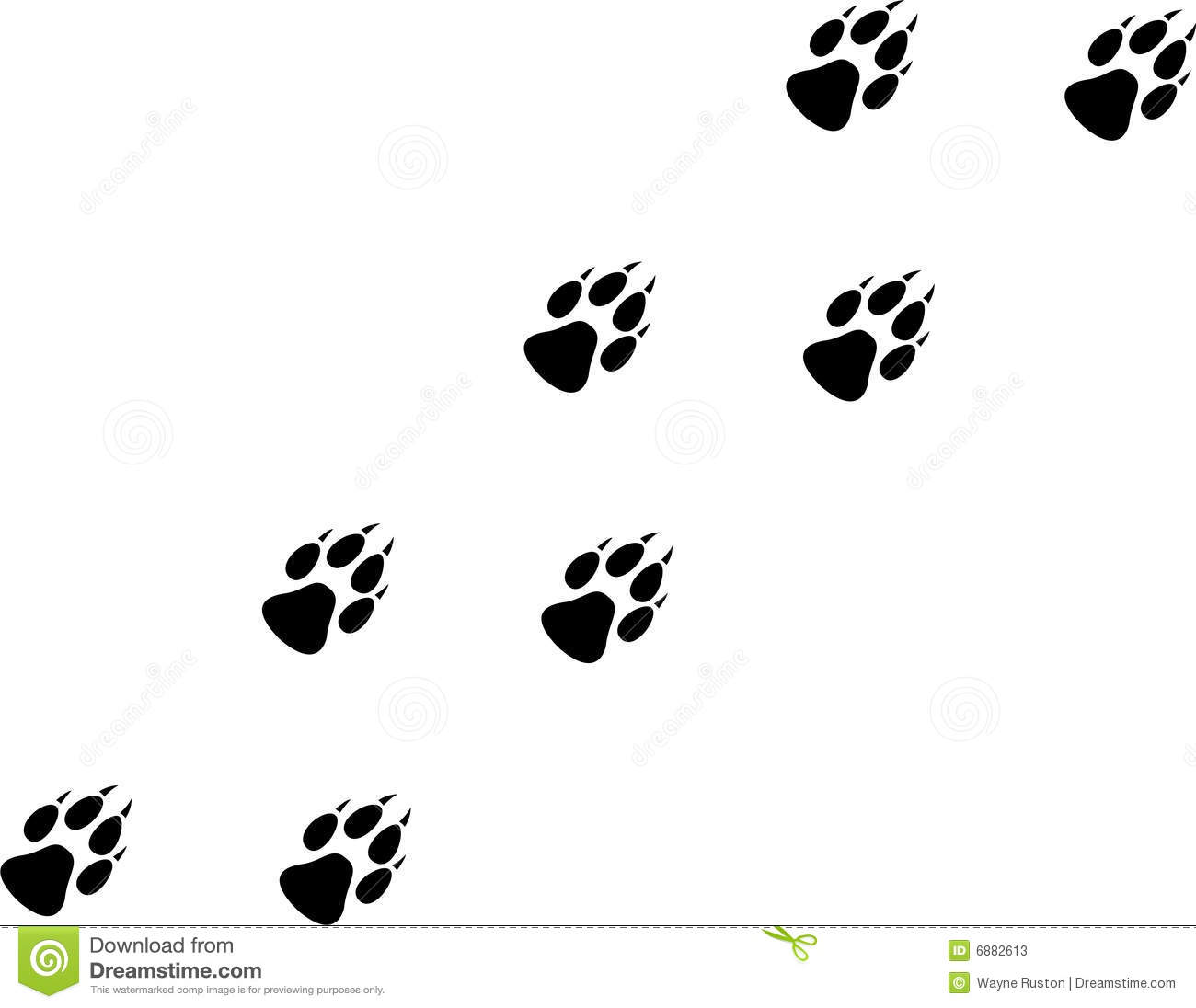 Wolf Print Stock Vector Illustration Of Wild Puppy
