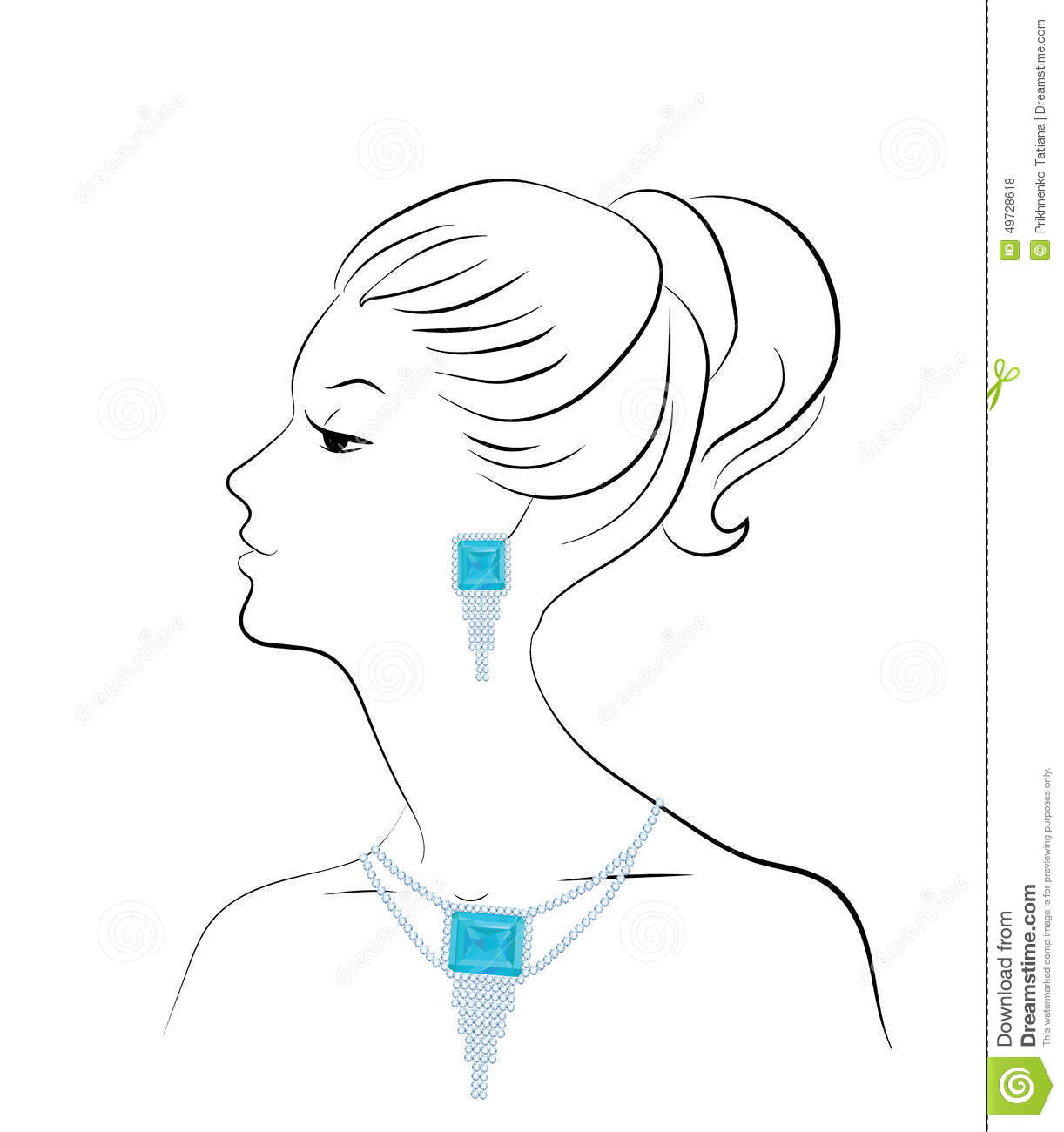 Woman And Jewelry Stock Vector Illustration Of Lady