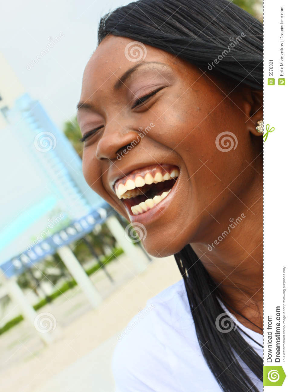 Woman Laughing Stock Image Image Of Funny Modern Laugh