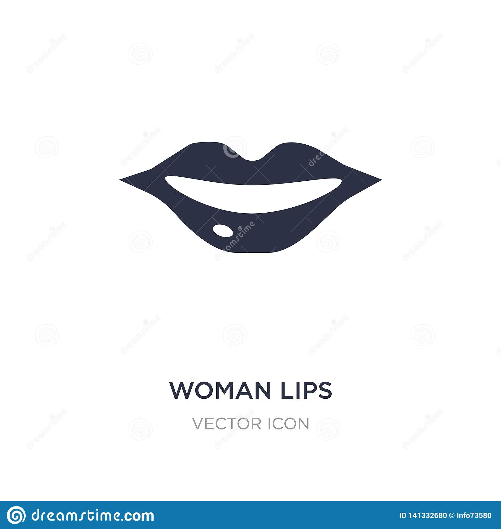 Lips And Mustache Are Talking To The Microphone Vector