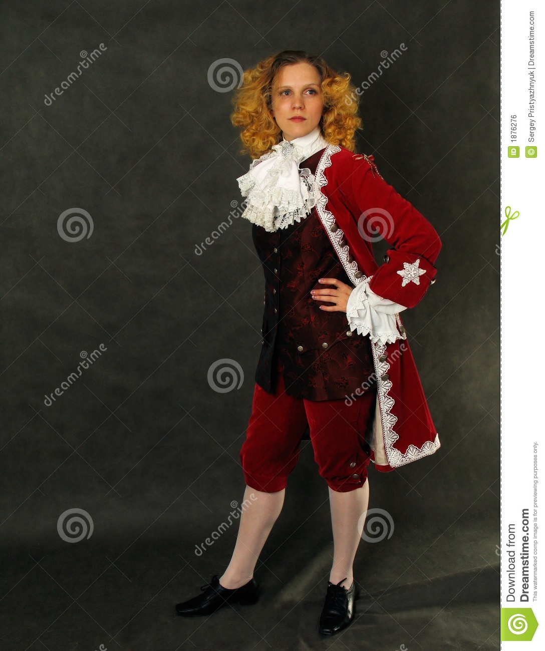 Woman In Old Fashioned French Clothes Royalty Free Stock