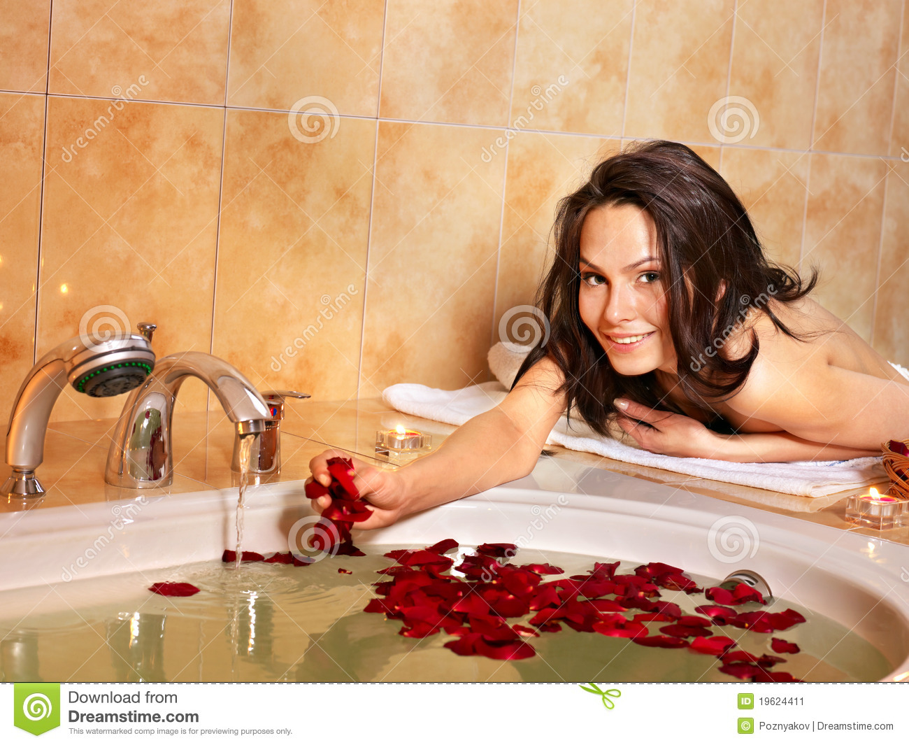 Woman Relaxing In Bath Stock Image Image 19624411