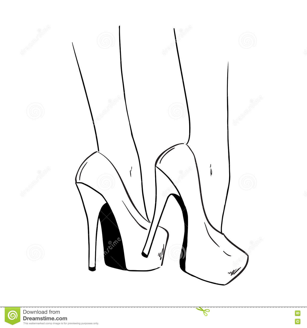 Easy Cartoon To Draw Heels