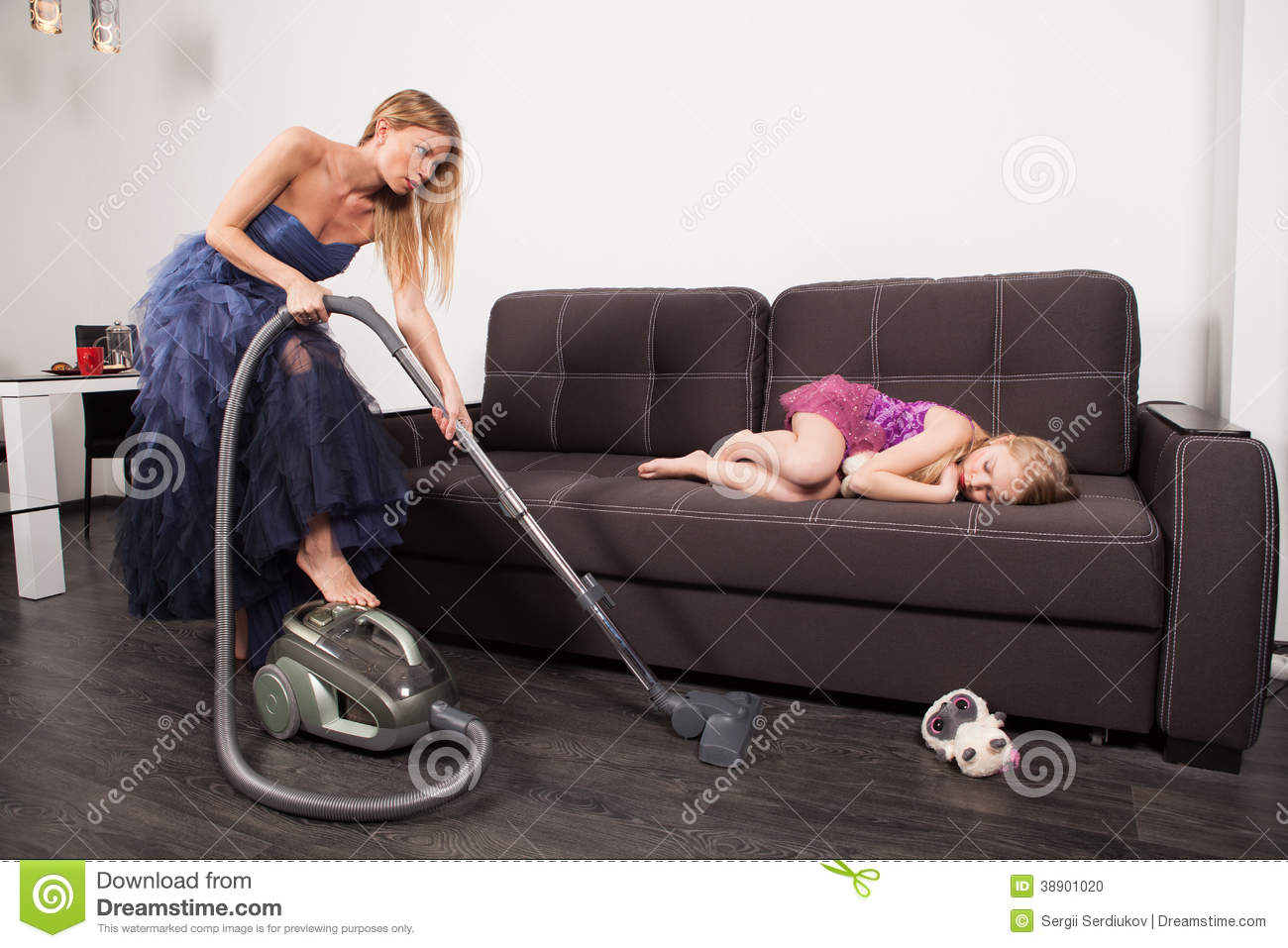 Woman Use Vacuum Cleaner Stock Photo Image 38901020