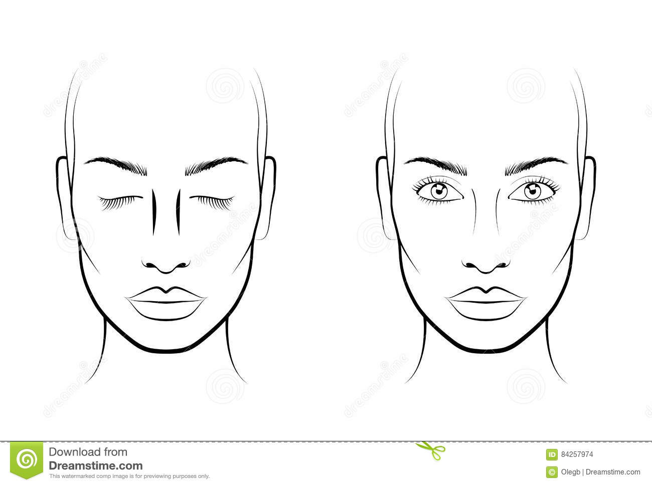15 Woman Young Konstnar For Framsidadiagrammakeup Blank