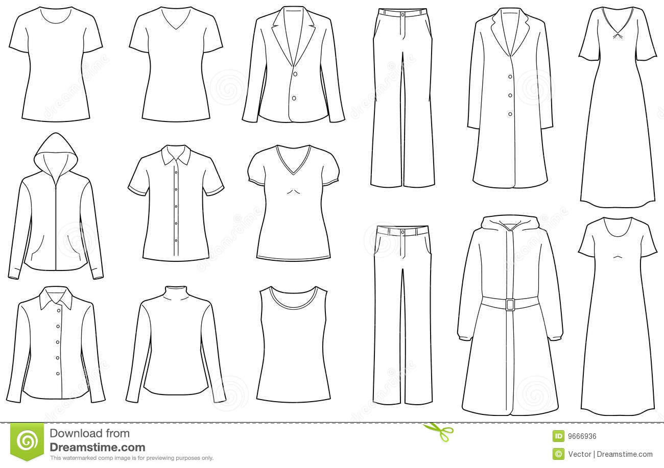 Womens Clothes Isolated Vector Royalty Free Stock Image